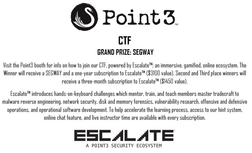 ESCALATE CTF – Northern VA Security Conference